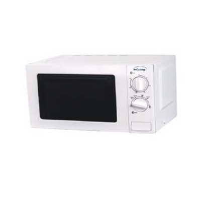 In Cuisine Microwave 800w 20ltr Capacity Stainless Steel Interior White