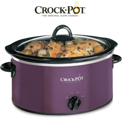 Crock-Pot Aubergine Slow Cooker, 3.5L Enlarged Preview