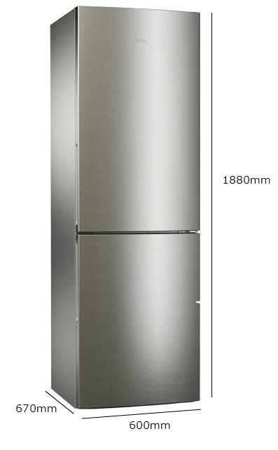 Haier Cfl633cx Stainless Steel Fridge Freezer Class A