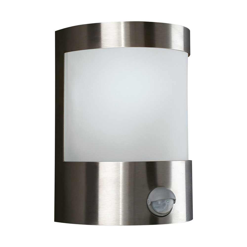 Outside Wall Lights With Sensor : Massive 17024/47/10 Vilnius 60W 230V PIR Sensor Aluminium Outdoor Wall Light