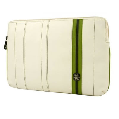Le Royale Leather 13 Laptop Sleeve - White / Green NEW Enlarged Preview