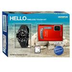 View Item Olympus TG-320 Digital Compact Camera Timless kit Loili clock Watch 2GB SD Card