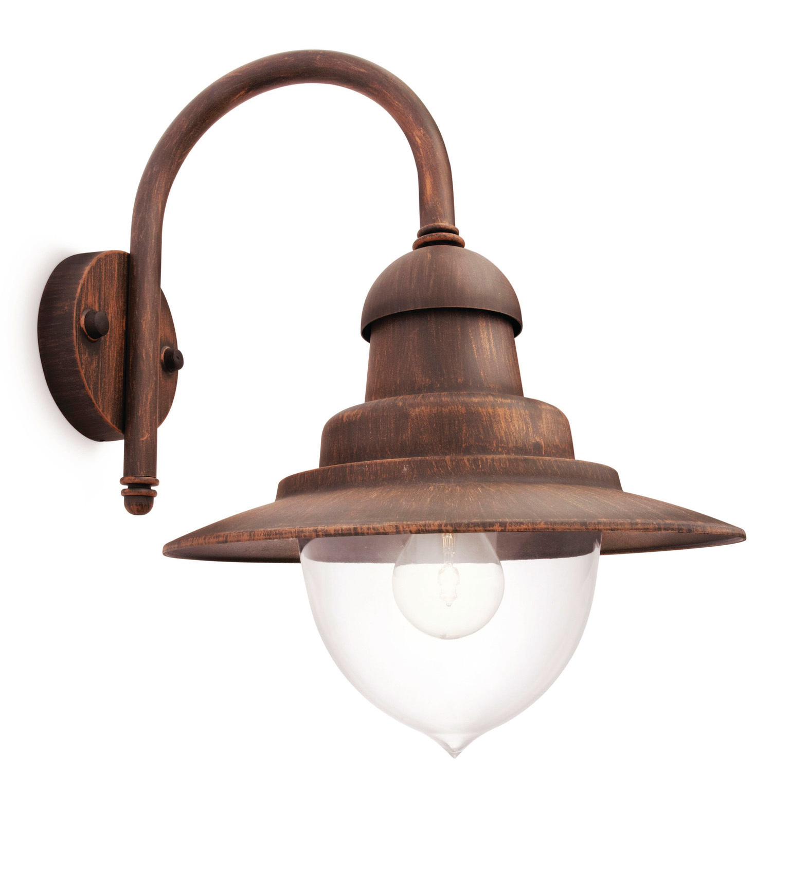 Philips 01652 06 16 aluminium mygarden 60w decorative outdoor wall light bronze ebay - Decorative garden lights ...