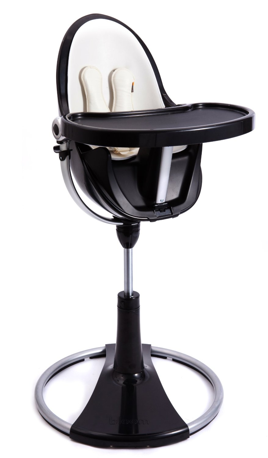 bloom fresco chrome contemporary high chair blackwhite insert  - thumbnail