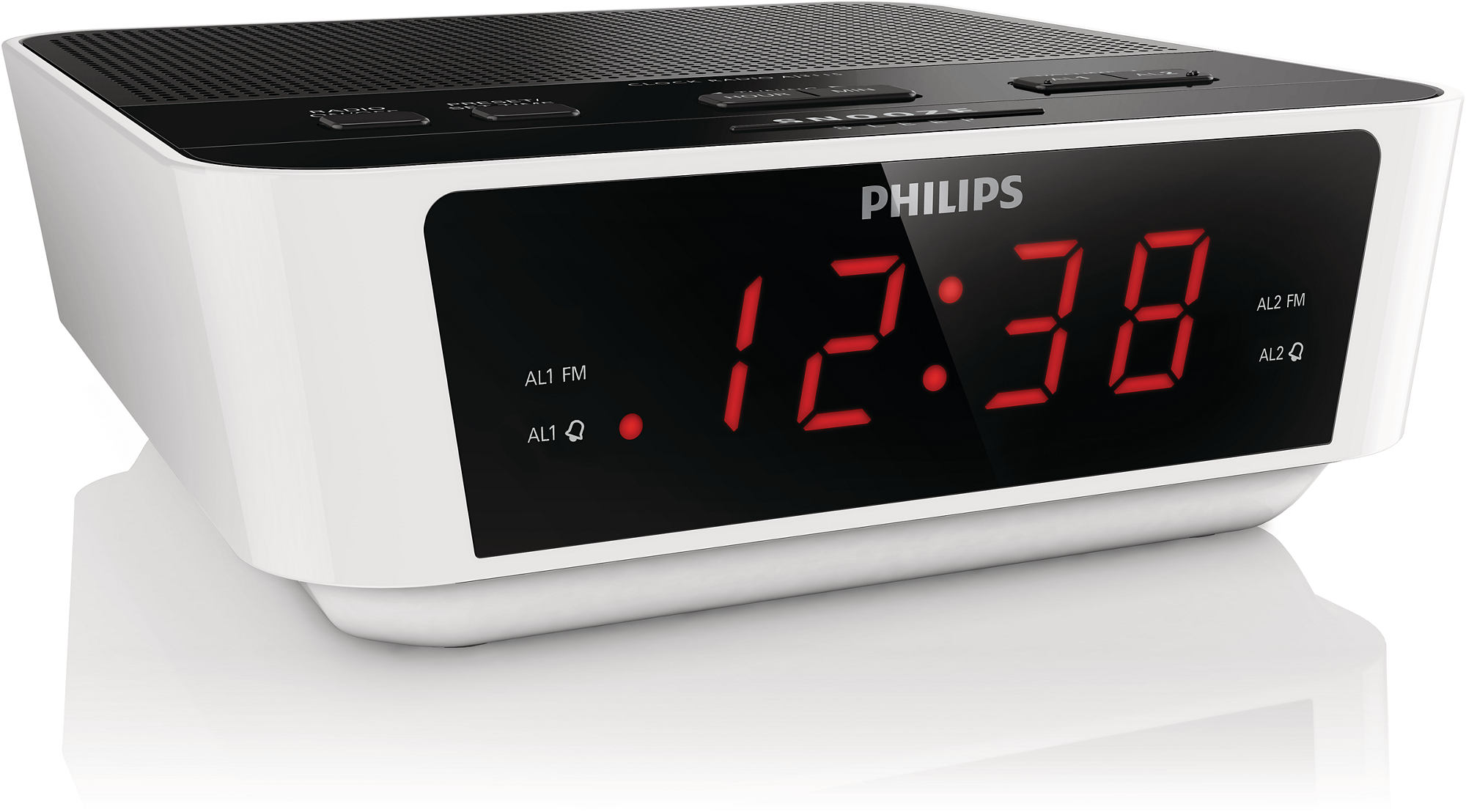 philips aj3115 05 digital tuning clock radio alarm white. Black Bedroom Furniture Sets. Home Design Ideas