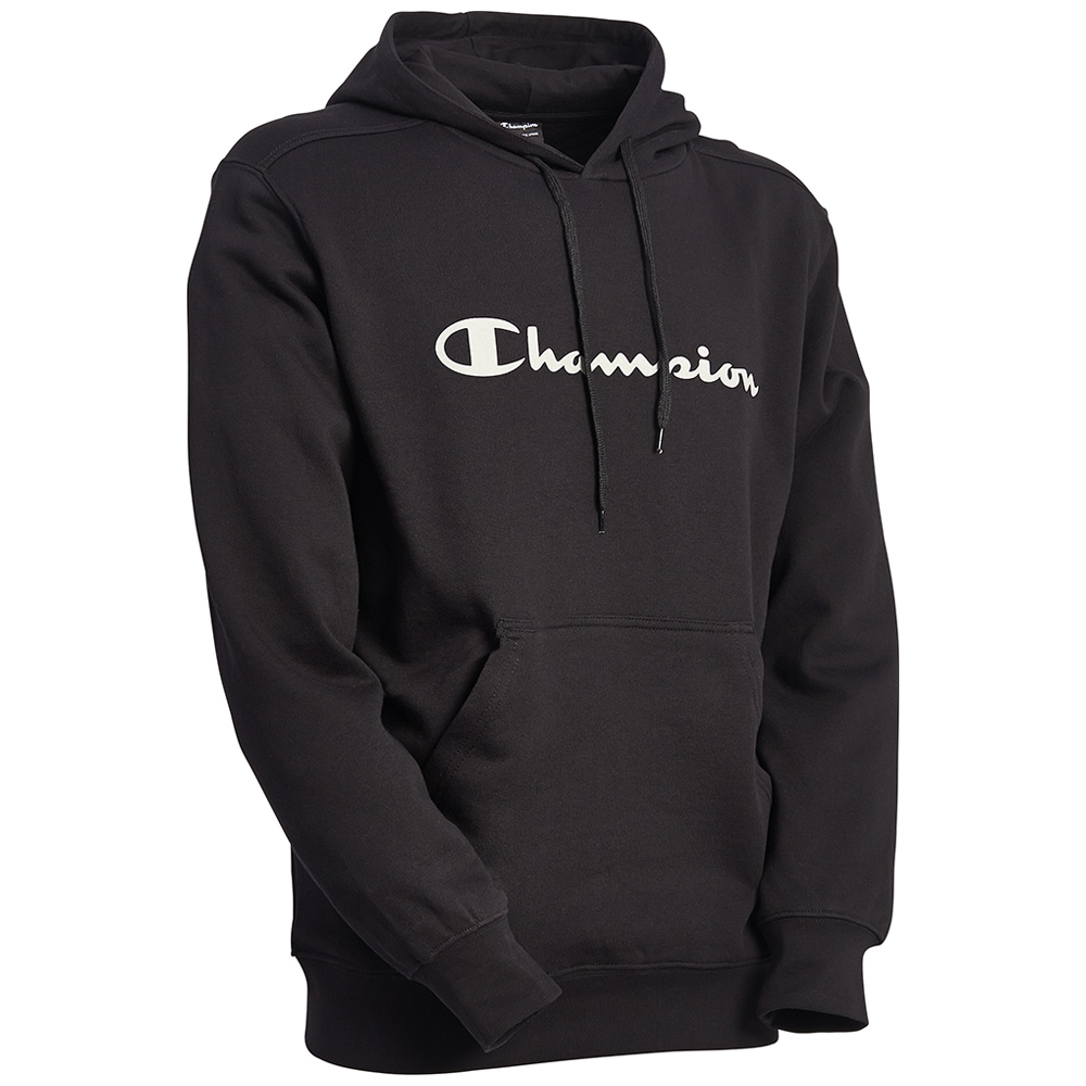Champion Mens Combed Cotton Fleece Hooded Sweatshirt Hoodie Active
