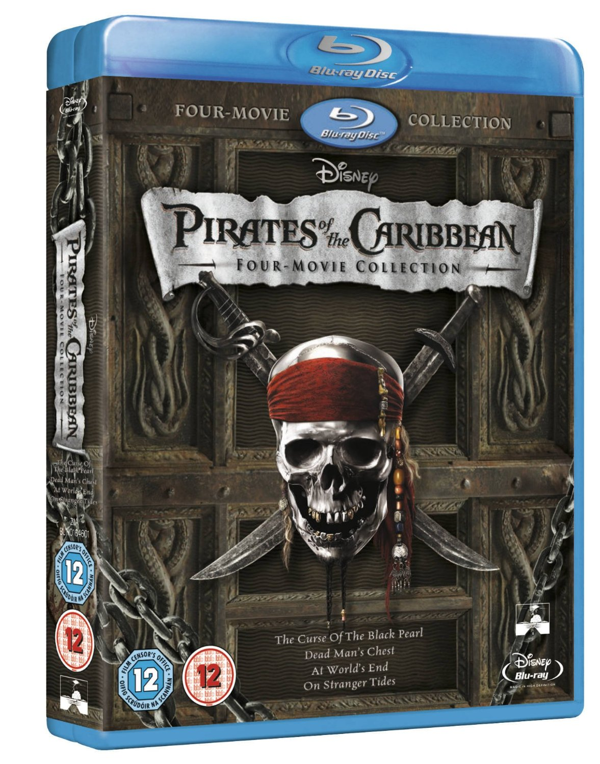 Pirates of the Caribbean 1-4 Collection Disney Blu-ray Brand New (Not Sealed)