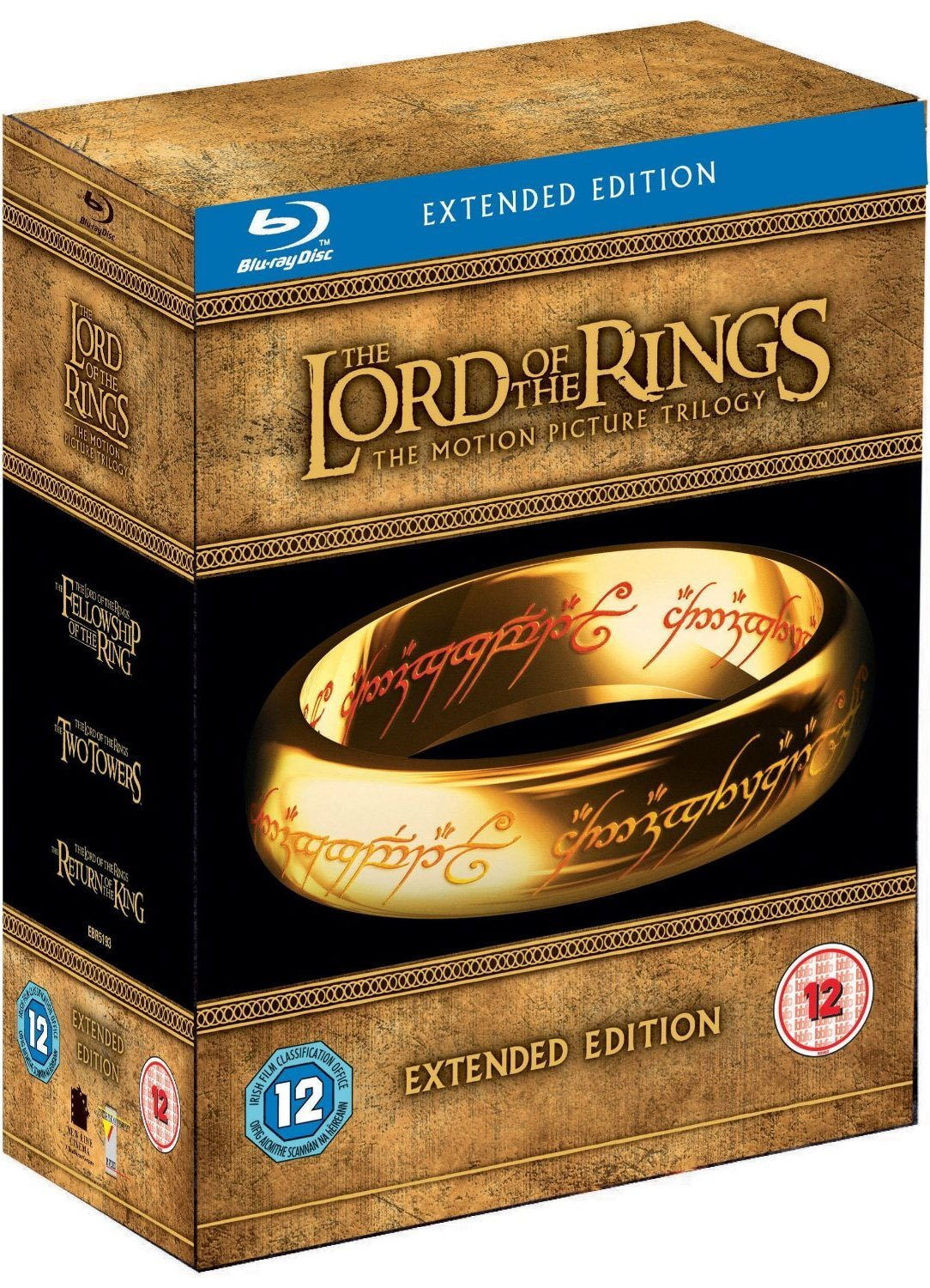Extended Edition Lord of the Rings Trilogy Blu-ray 15 Disc Box Set New & Sealed