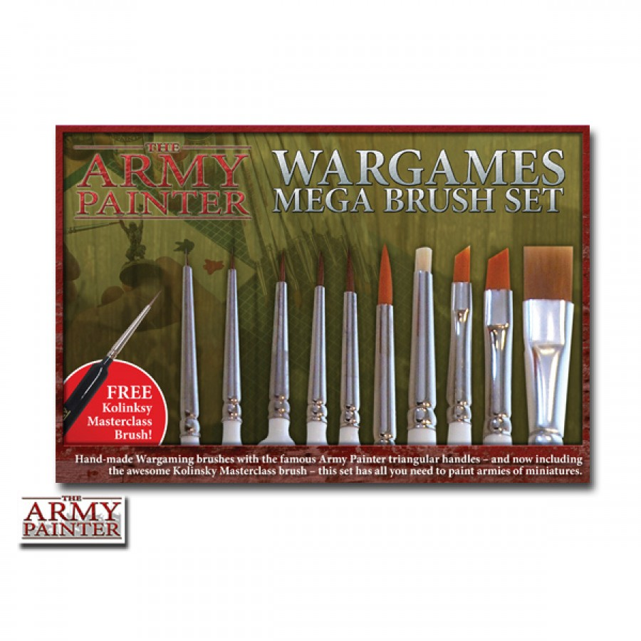The army painter mega paint brush set brand new ebay for Best paint brush brands