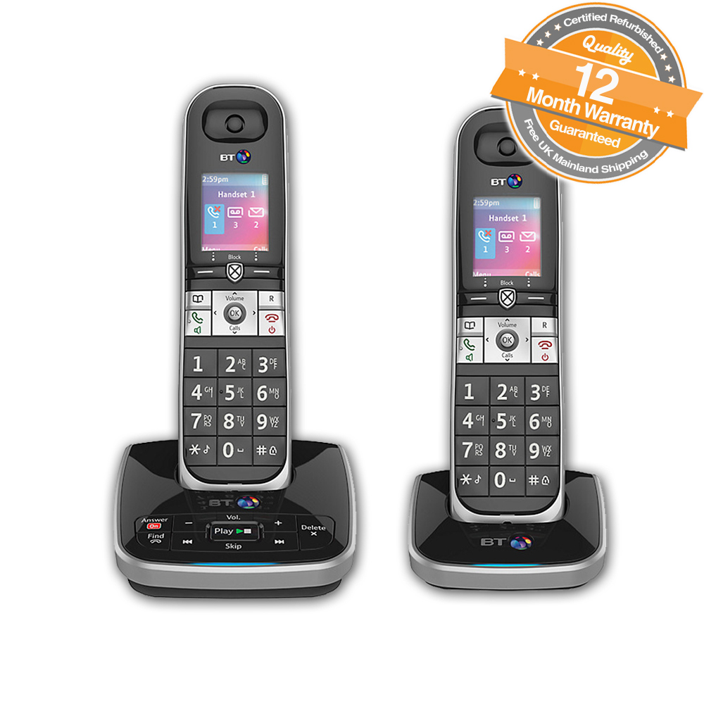 bt 8610 twin digital cordless phone with answer machine advanced call blocking ebay. Black Bedroom Furniture Sets. Home Design Ideas