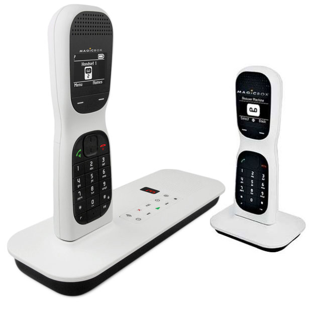 MAGICBOX COLOMBO ONE TWIN DIGITAL CORDLESS ANSWER PHONE DESIGNED BY JOE COLOMBO Enlarged Preview