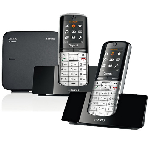 gigaset sl400a duo digi cordless answer phone. Black Bedroom Furniture Sets. Home Design Ideas