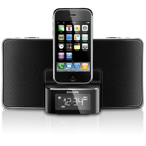 PHILIPS DC220 DIGITAL CLOCK RADIO DOCK FOR iPHONE iPOD  Enlarged Preview