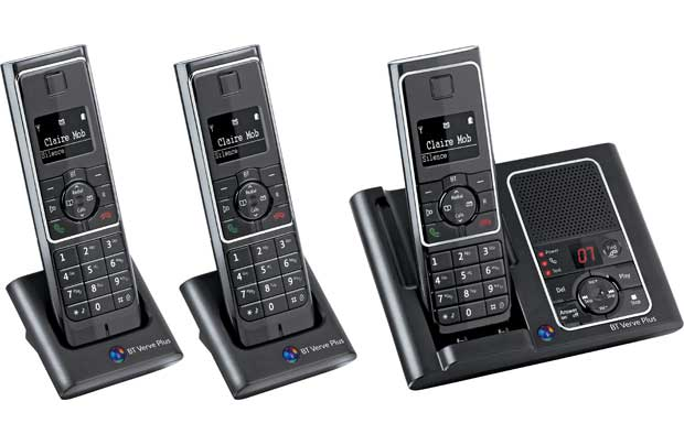 BT VERVE 450 PLUS TRIO DIGITAL CORDLESS ANSWER PHONE