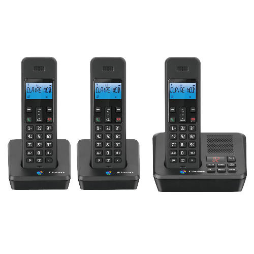 BT FREELANCE XB2500 TRIO DIGITAL CORDLESS ANSWER PHONE