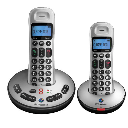 BT FREELANCE XT3500 TWIN DIGITAL CORDLESS ANSWERPHONE