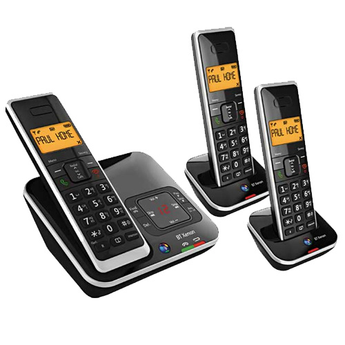 BT XENON 1500 TRIO DIGITAL CORDLESS TELEPHONE ANSWER MACHINE