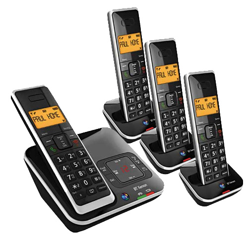 BT XENON 1500 QUAD DIGITAL CORDLESS TELEPHONE ANSWER MACHINE
