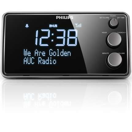 philips ajb3552 05 dab alarm clock radio big lcd display. Black Bedroom Furniture Sets. Home Design Ideas