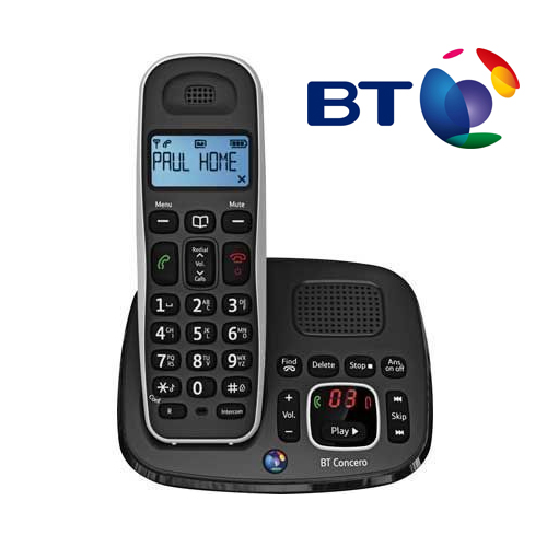 BT CONCERO 1500 DIGITAL CORDLESS PHONE WITH ANSWER MACHINE