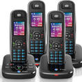 BT Aura 1500 Quad Digital Cordless Phone With Answermachine - Refurbished Grade A
