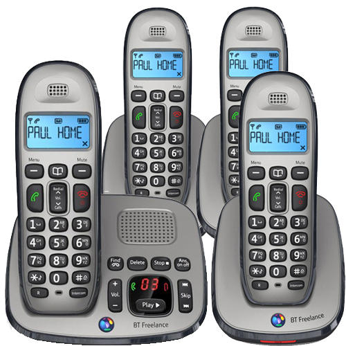 BT Freelance Xd8500 Quad Digital Cordless Answer Phone 25min Rec Time - Refurbished Grade A Preview