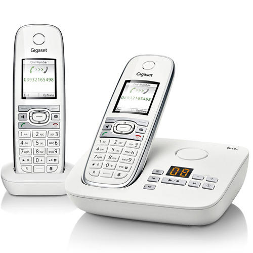 siemens gigaset c610a duo cordless phone with answering machine twin dect ebay. Black Bedroom Furniture Sets. Home Design Ideas