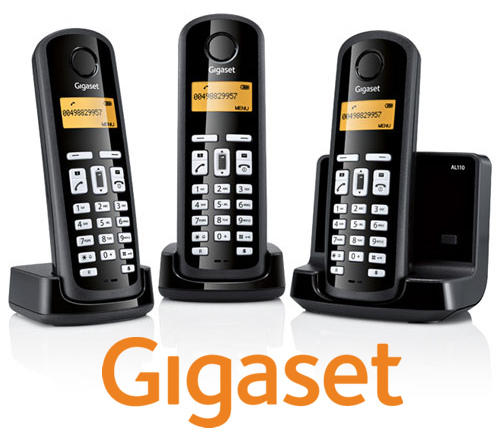 Gigaset Al110a Trio Digital Cordless Answerphone With Eco Mode Preview