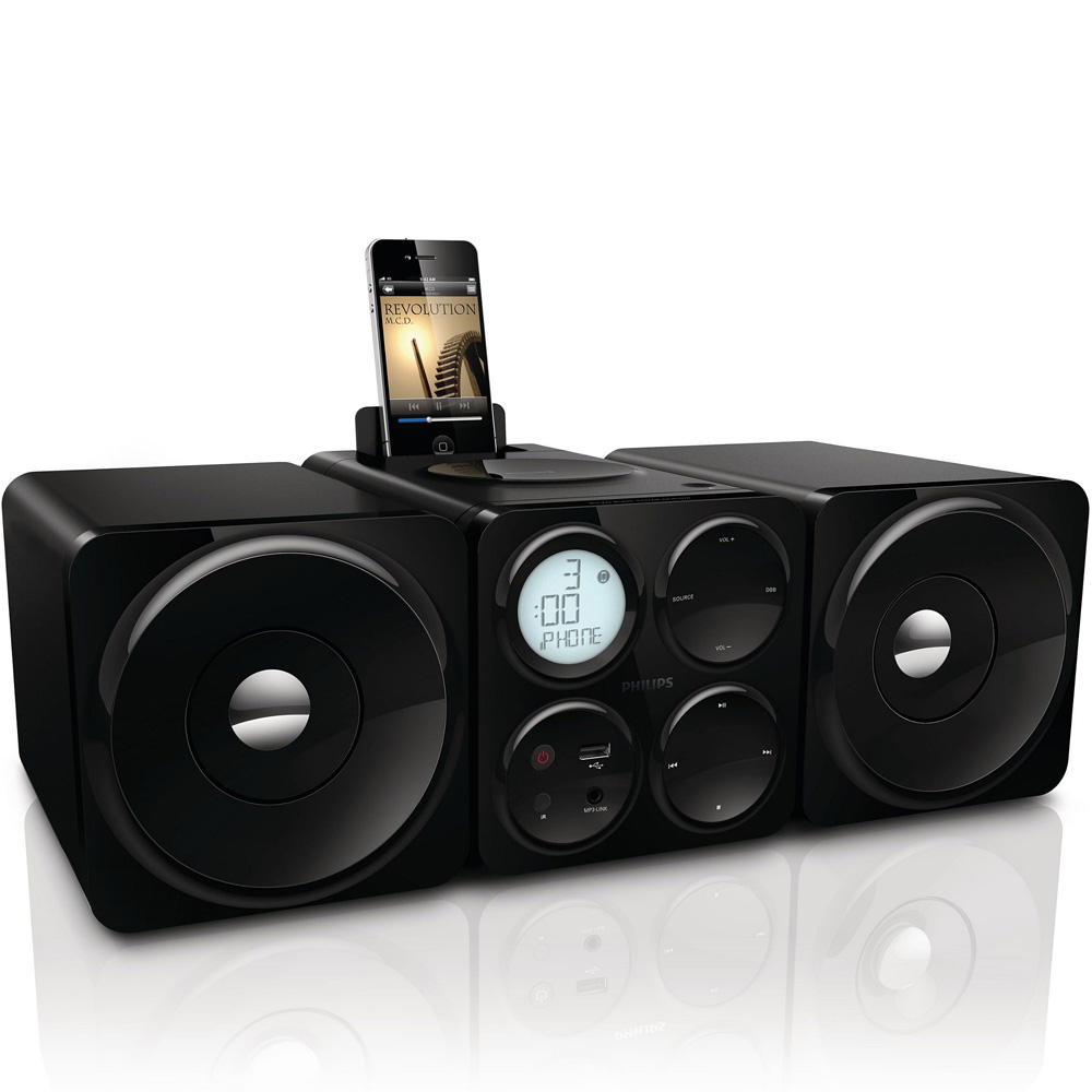Philips Dcm1070 05 Cube Micro Music System For Iphone