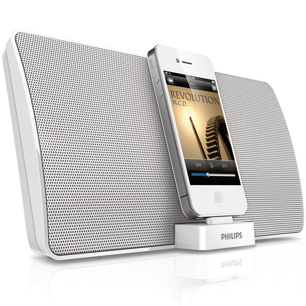 philips ad533 05 docking speaker with bluetooth for ipod. Black Bedroom Furniture Sets. Home Design Ideas