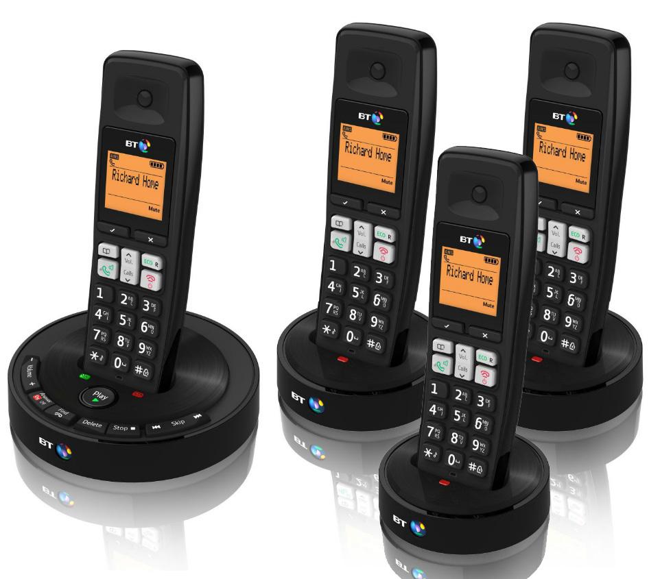 bt 3510 quad digital cordless phone with answer machine ebay. Black Bedroom Furniture Sets. Home Design Ideas