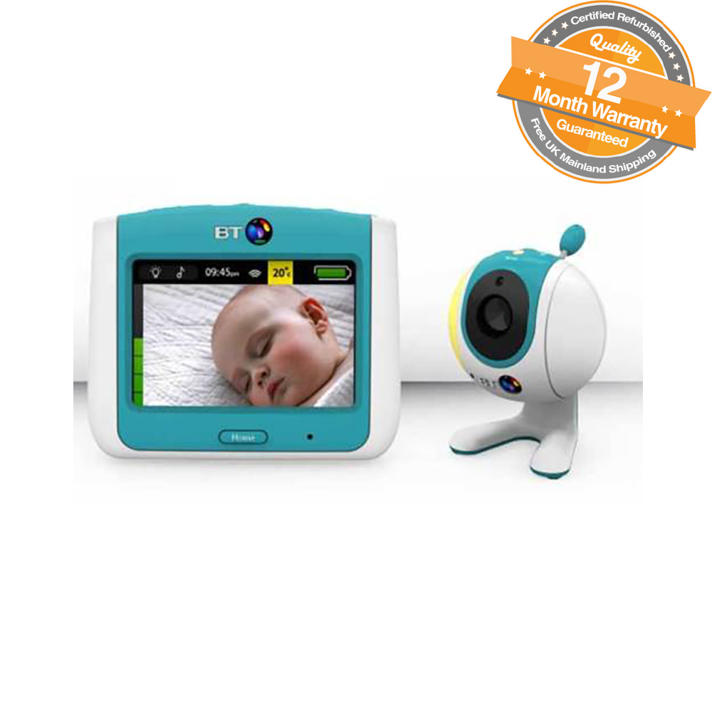 bt video baby monitor 7030 with 3 5 lcd touch screen and 19 lullabies ebay. Black Bedroom Furniture Sets. Home Design Ideas