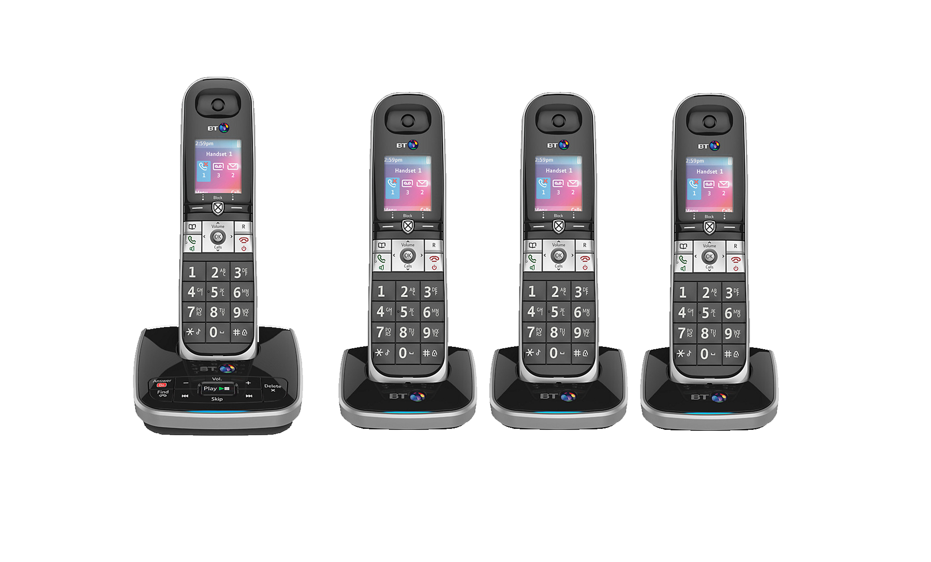 bt 8610 quad digital cordless phone with answer machine advanced call blocking ebay. Black Bedroom Furniture Sets. Home Design Ideas