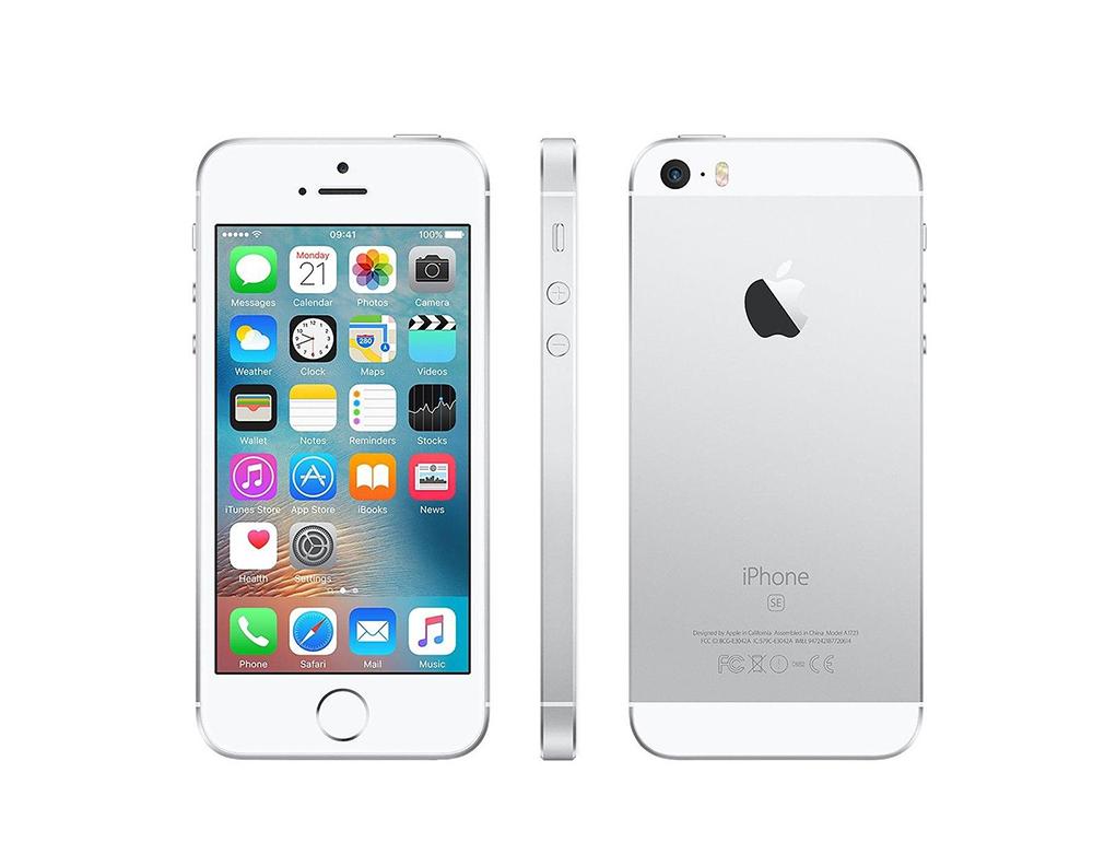 apple mllp2b a iphone se 16gb 4 12mp sim free smartphone silver 888462734356 ebay. Black Bedroom Furniture Sets. Home Design Ideas