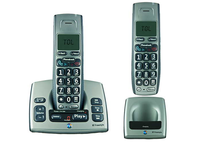 BT FREESTYLE 750 TWIN DIGITAL CORDLESS ANSWER PHONE ECO