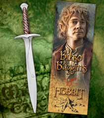 The Hobbit - Sting Sword Pen and Lenticular  Bookmark - The Noble Collection