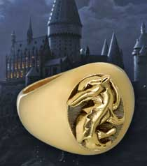 HARRY POTTER - HUFFLEPUFF HOUSE RING SIZE Q *NEW*