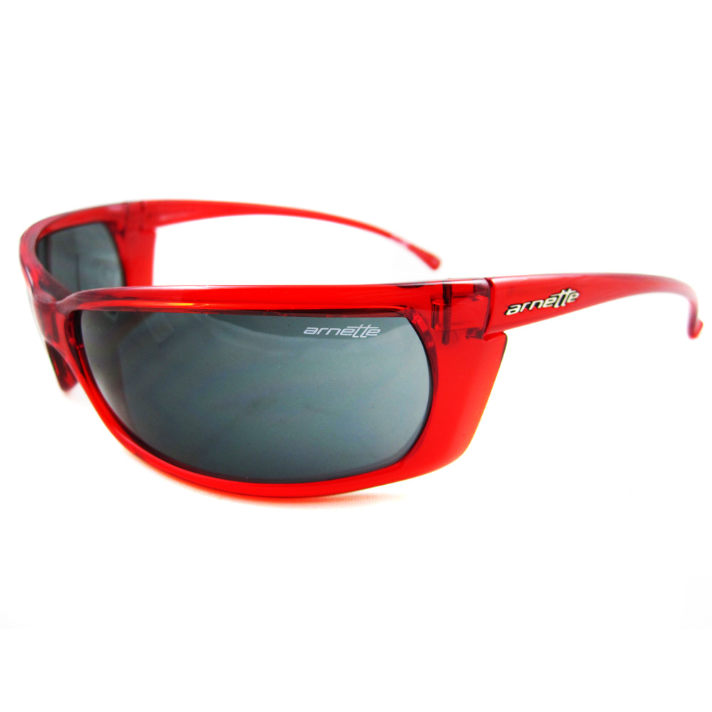 ... Arnette Sunglasses Slide 4007 202487 Transparent Red Grey on PopScreen 23666c51b0c
