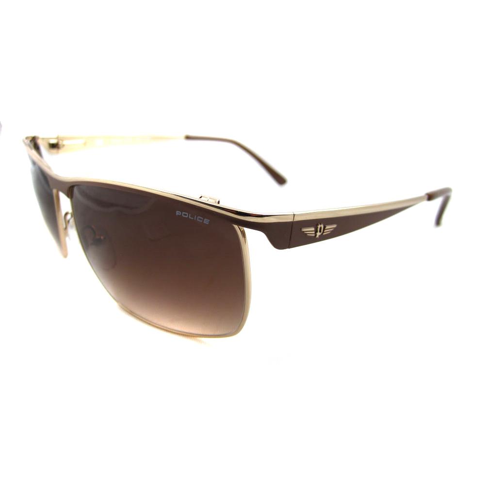 Gold Frame Police Sunglasses : Police Sunglasses 8404 316 Gold Brown Gradient eBay