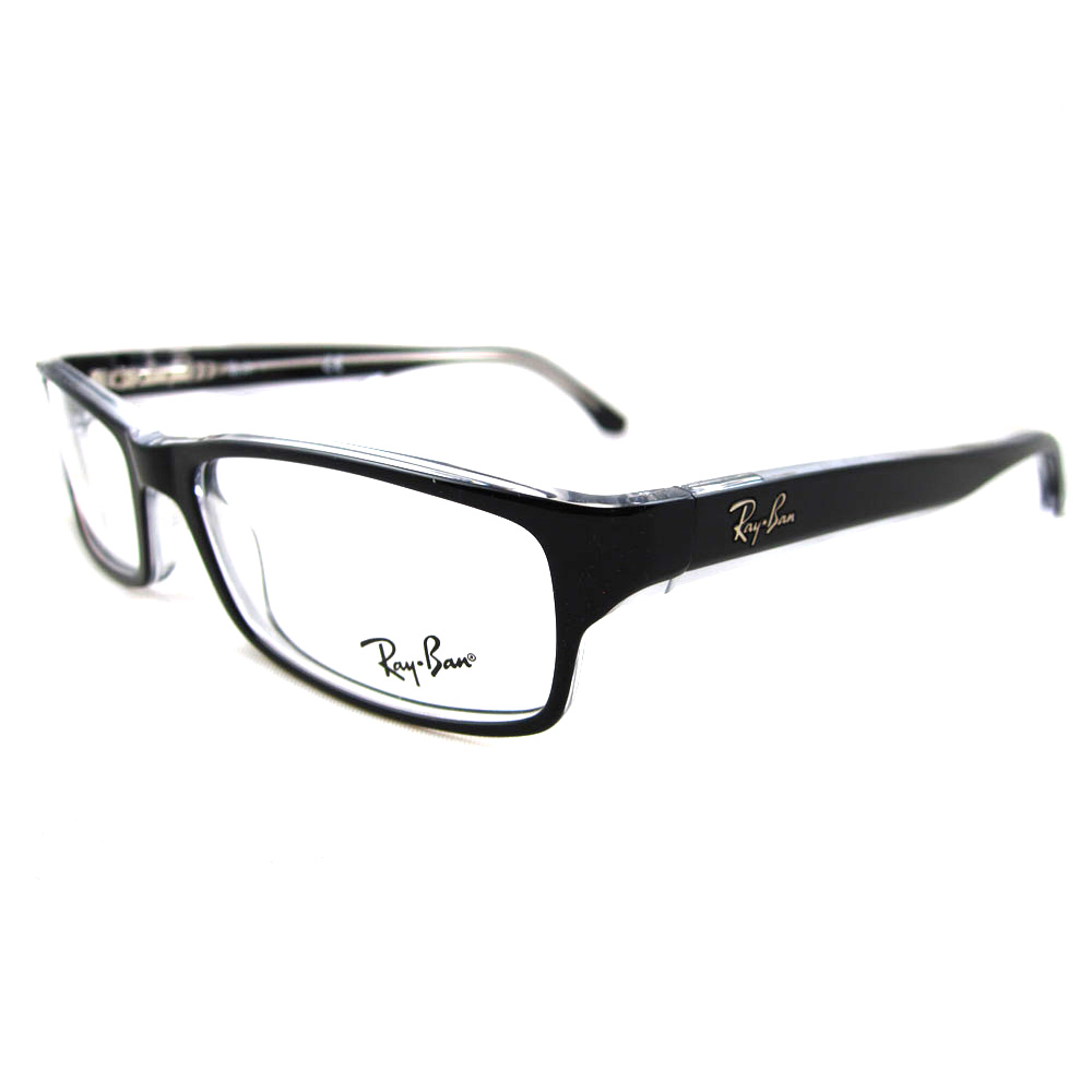 Ray Ban Glasses Large Frame : Ray-Ban Glasses Frames 5114 2034 Black / Clear eBay