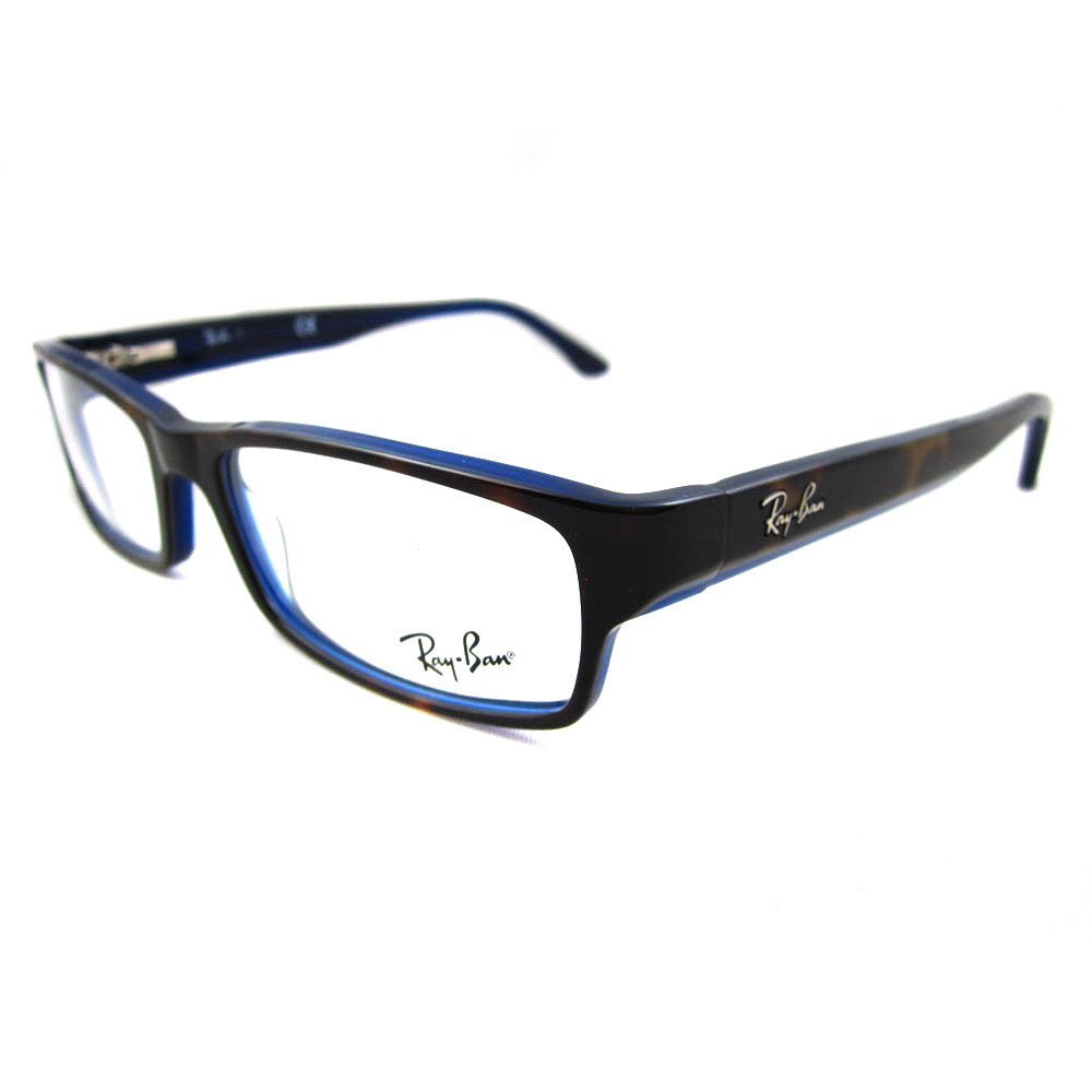 Ray Ban Glasses Large Frame : Ray-Ban Glasses Frames 5114 5064 Top Havana On Blue eBay