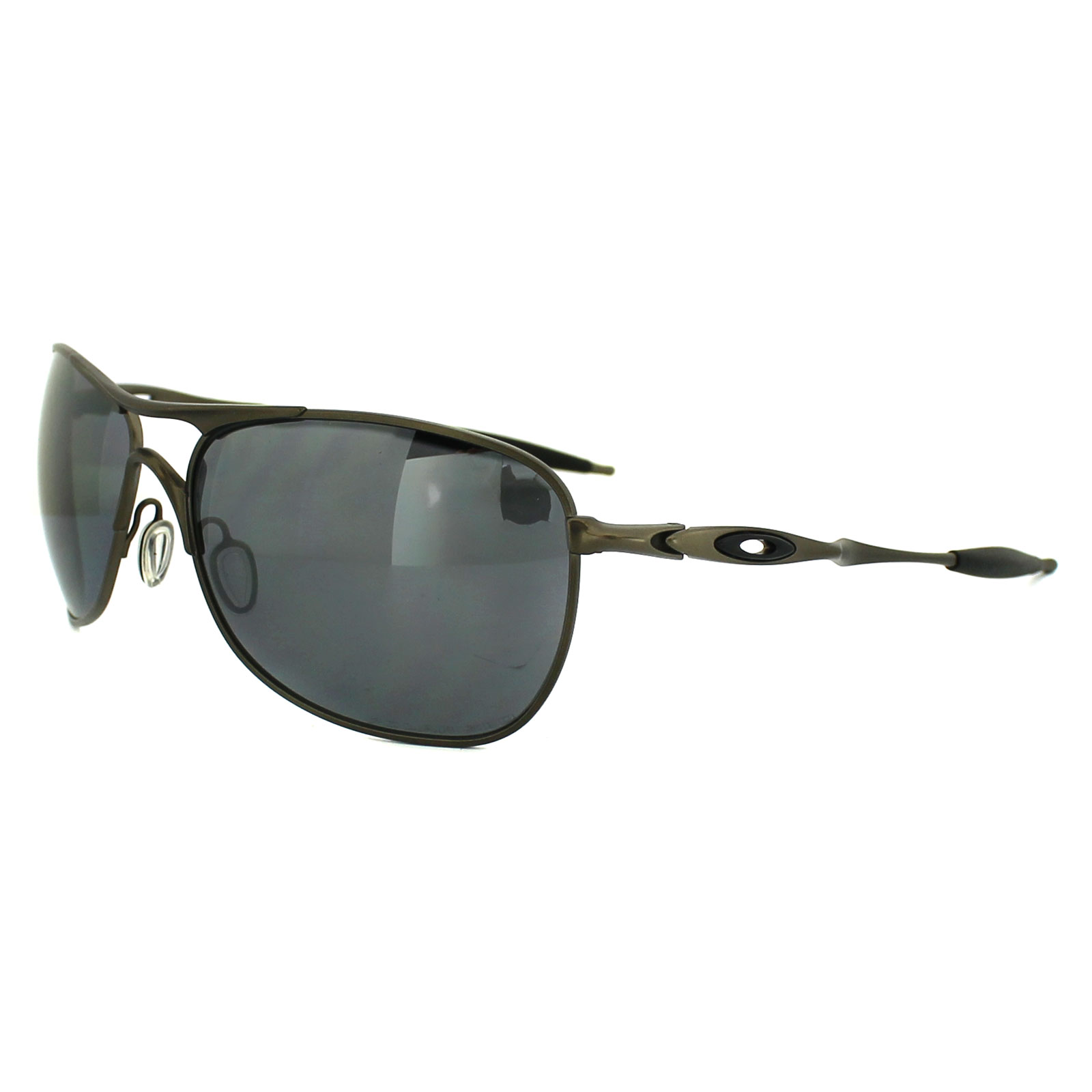 oakley polarized titanium crosshair sunglasses  oakley sunglasses ti crosshair pewter black iridium polarized oo6014 02