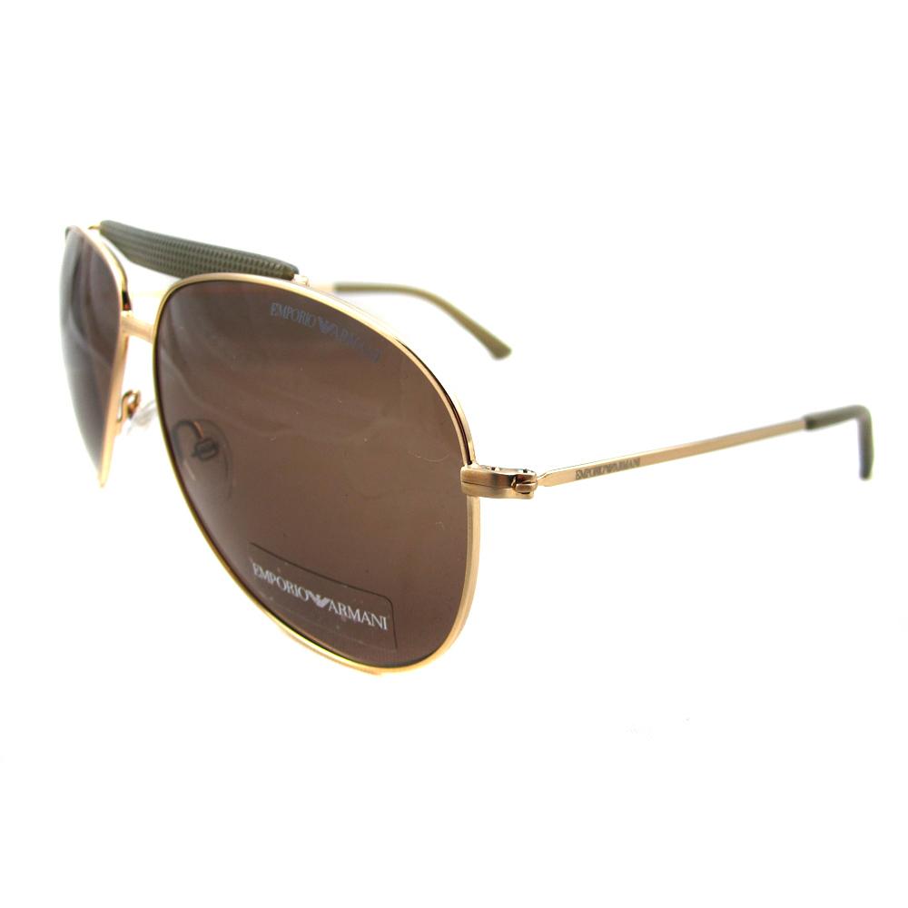 Armani Gold Frame Sunglasses : Emporio Armani Sunglasses 9807 000 04 Rose Gold Brown eBay