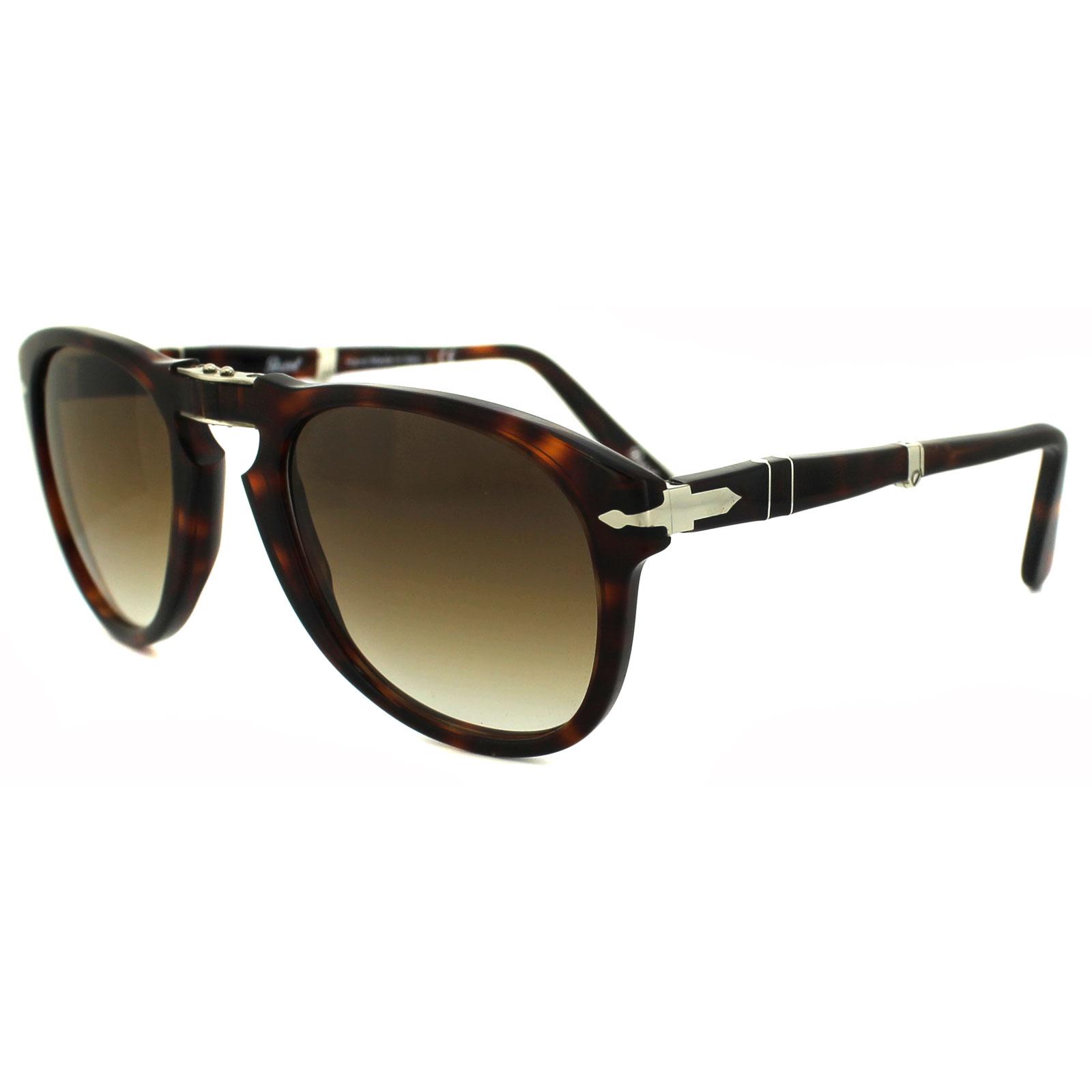 Persol Folding Sunglasses  persol sunglasses 0714 24 51 havana brown grant folding steve