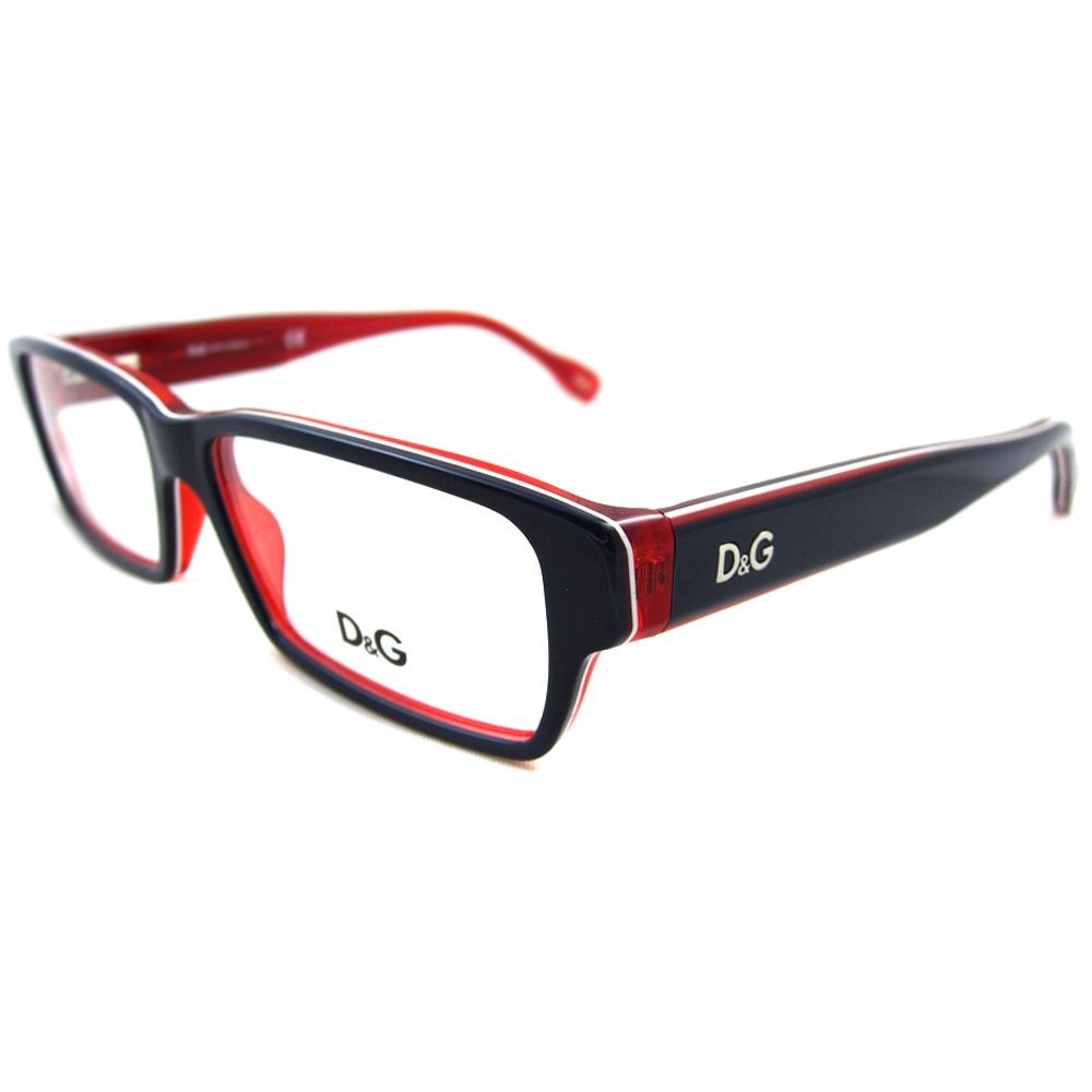 Dolce And Gabbana White Frame Glasses : D&G Glasses Frames 1203 1872 Blue Red & White 54mm Dolce ...