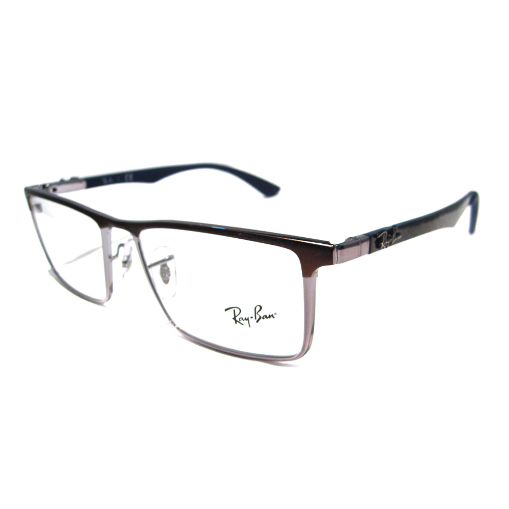 Ray-Ban Glasses Frames 8409 2713 Matt Brown Gunmetal eBay