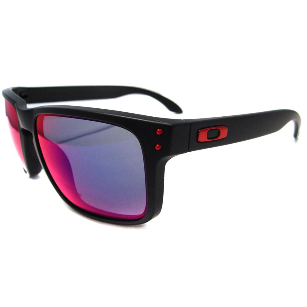 Holbrook Matt Black Sunglasses Positive Red Iridium   eBay