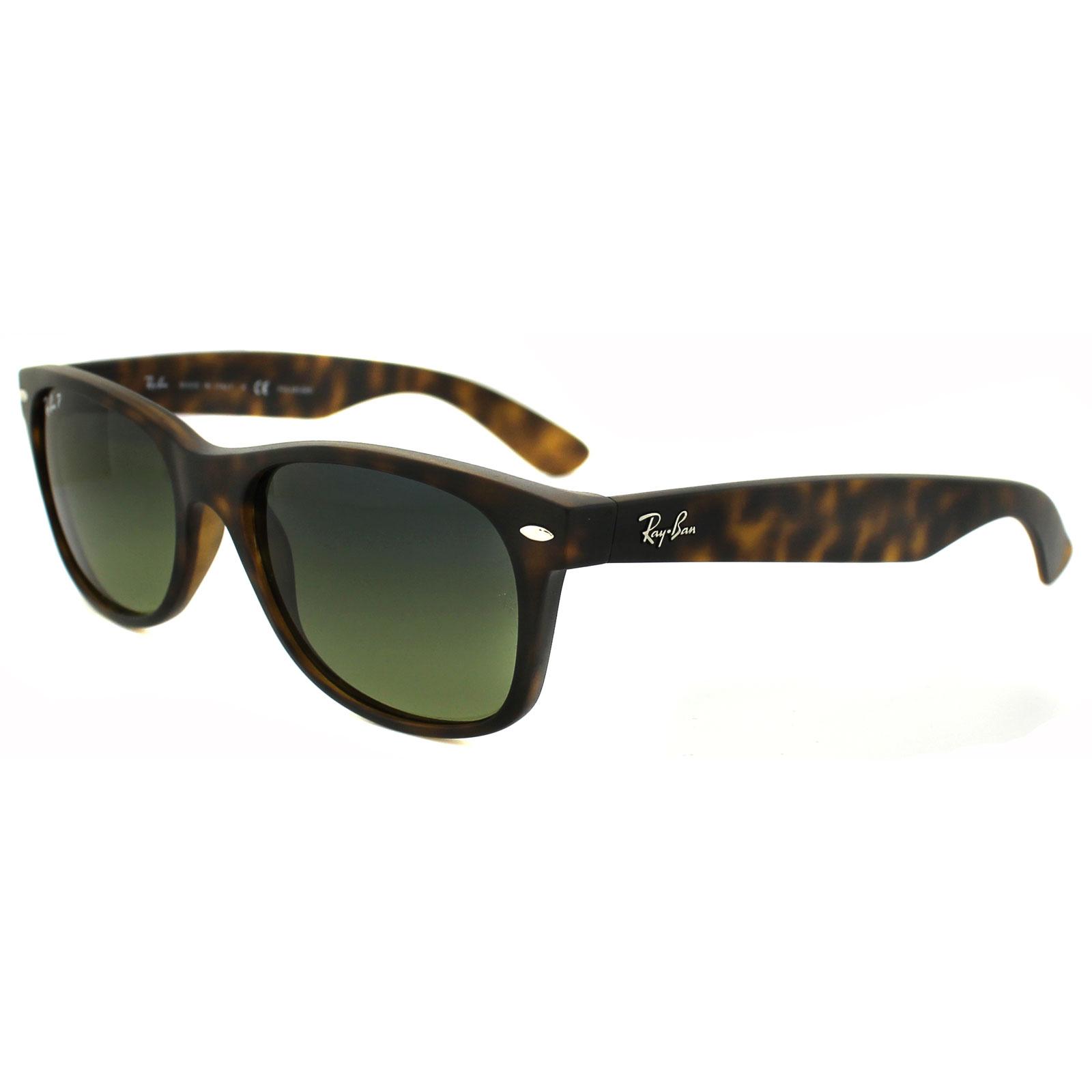 5eea18ab9f RayBan Sunglasses New Wayfarer 2132 894 76 Havana Blue Green Mirror  Polarized