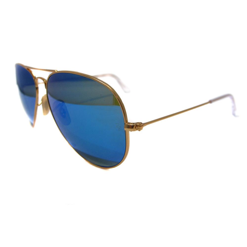 Rayban aviator occhiali da sole 3025 112 17 opache dorati - Occhiali ray ban aviator specchio ...