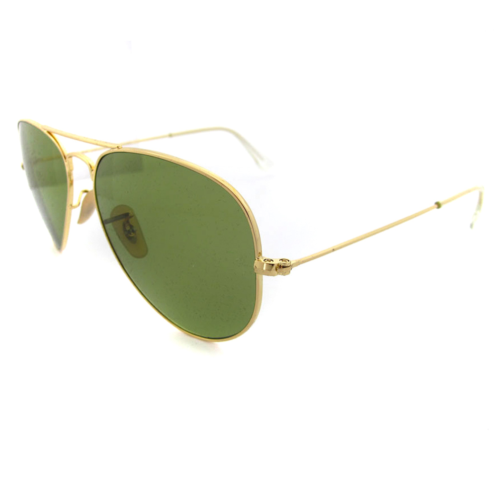 b4e2f22cb6 ray ban aviator polarized sunglasses gold crystal green lens rb3025 001 58  58mm